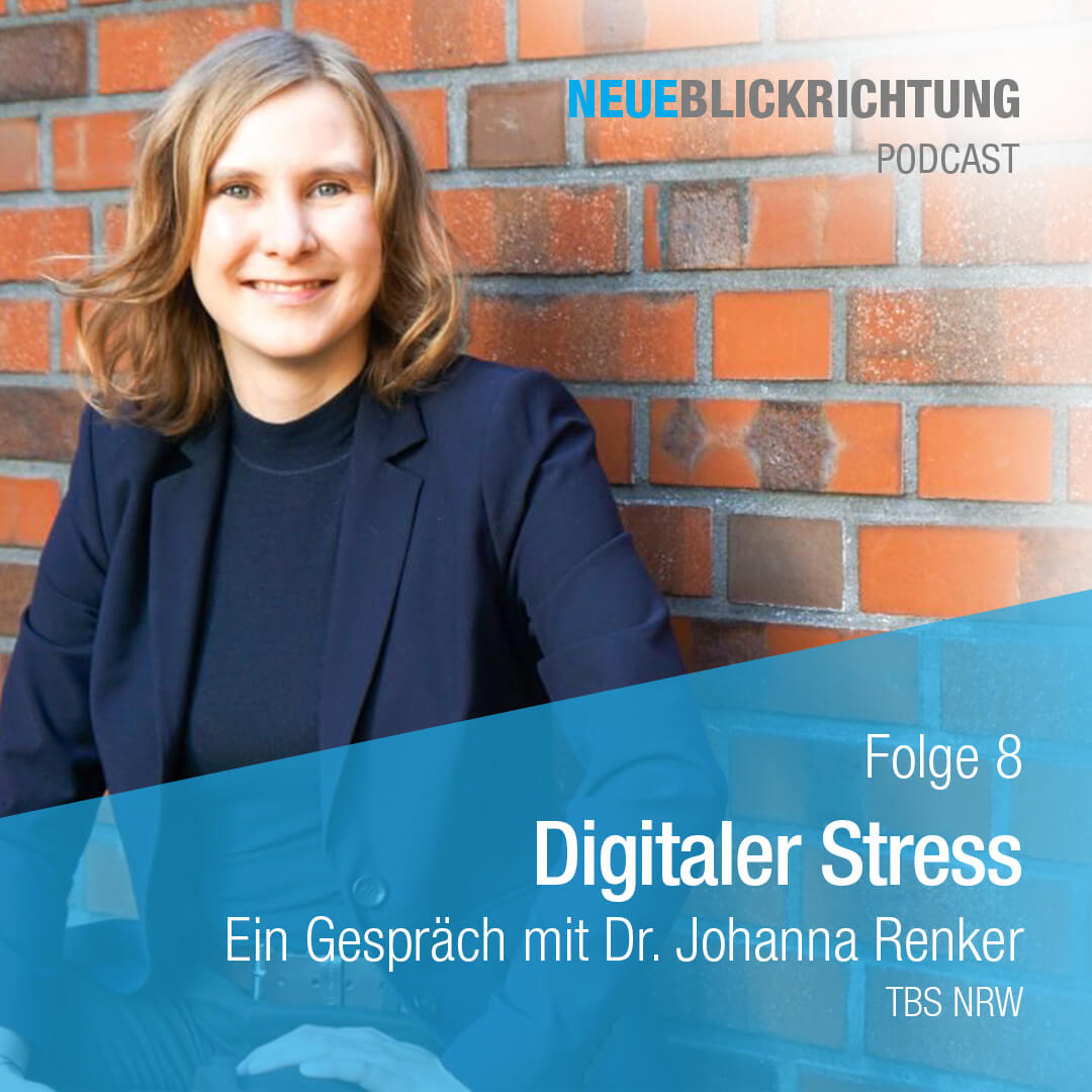 Dr. Johanna Renker digitaler Stress Podcast Cover